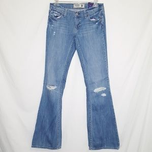 Pink Victoria Secret Size 6R Boot Cut Blue Jeans